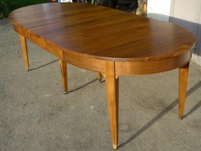 table ovale allonges 7